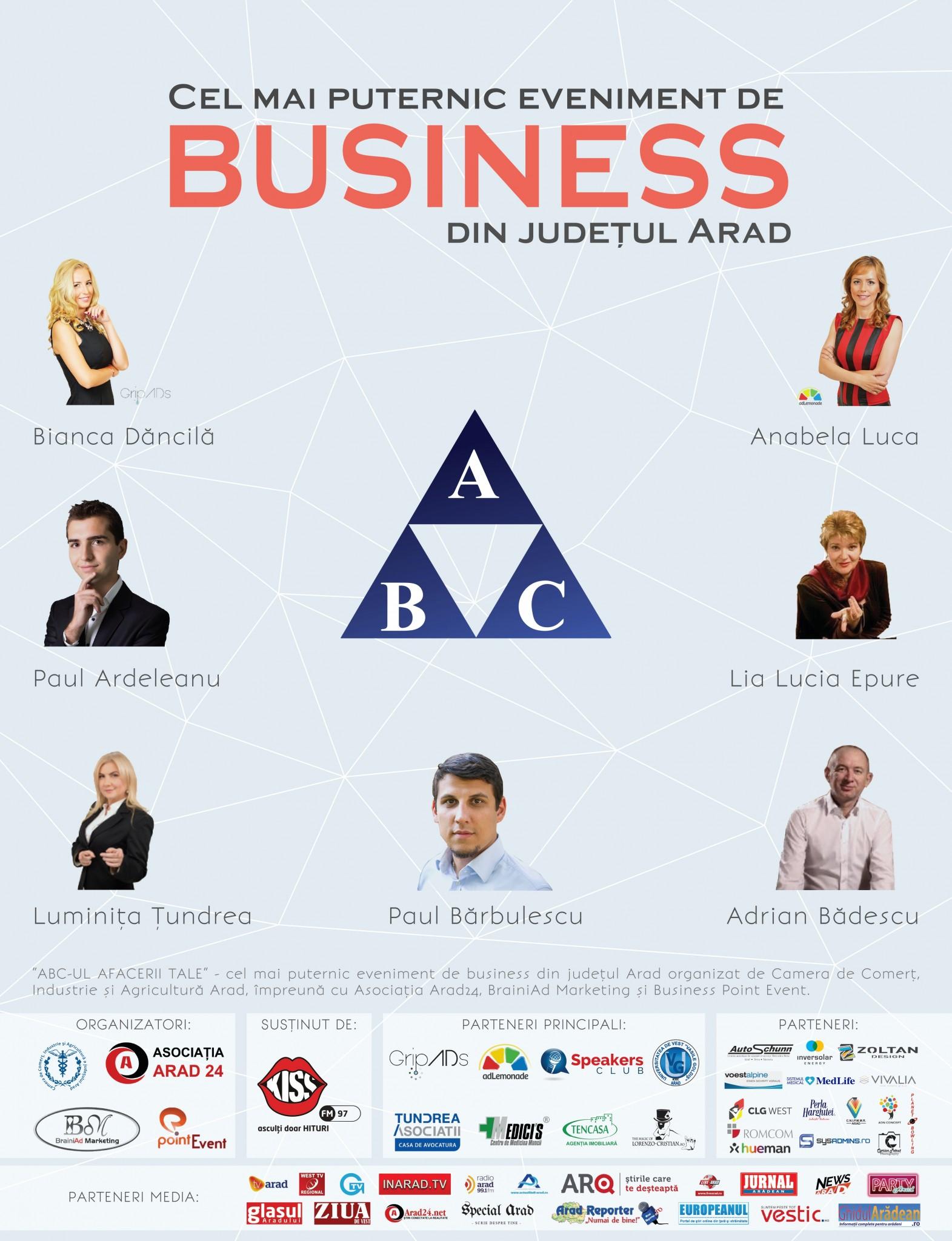 """Antreprenori de succes sunt invitaţi de CCIA la """"ABC-ul afacerii tale"""""""
